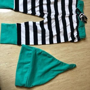 Other - Striped Pants & Hat set